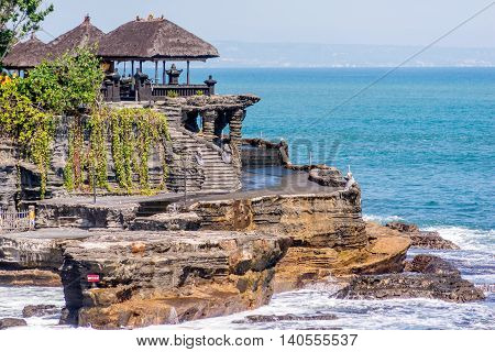 Tanah Lot temple Bali, Indonesia by the sea