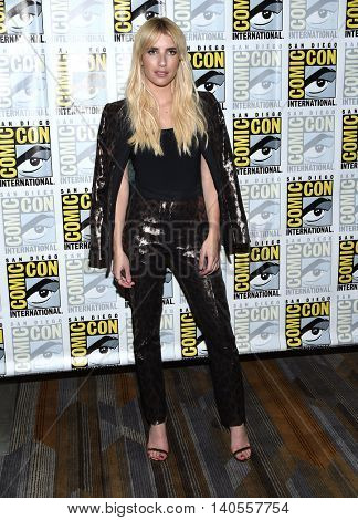 LOS ANGELES - JUL 22:  Emma Roberts arrives to the Comic Con 2016 -