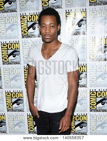 LOS ANGELES - JUL 22:  Tyler James Williams arrives to the Comic Con 2016 - CBS PhotoCall on July 22, 2016 in San Diego, CA