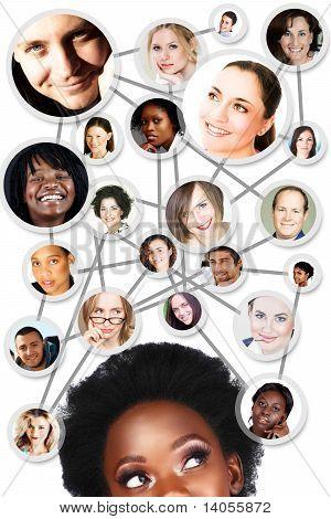African Woman Social Network Diagram