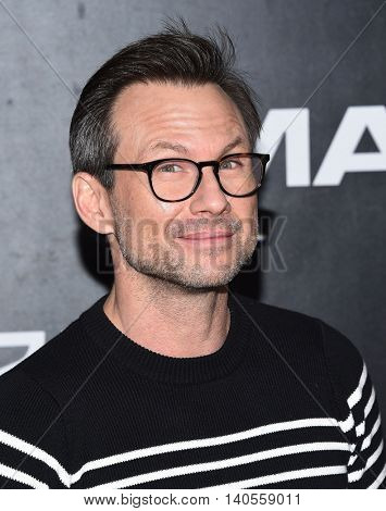 LOS ANGELES - JUL 20:  Christian Slater arrives to the