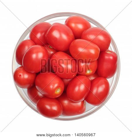 Tomatoes In Glass Plate