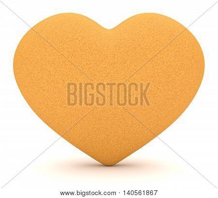Healthy Fruit: Orange Rind Heart 3d illustration