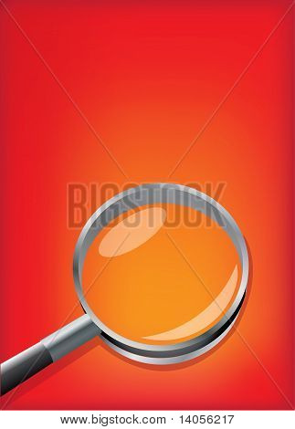 Vector background with a magnifier
