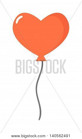 Color glossy heart balloons vector illustration. Round entertainment balloons holiday festival happy gift. Balloons beautiful toy party day celebrate, isolated helium color carnival tool.