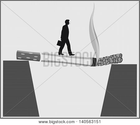 Conceptual poster about the dangers of Smoking.