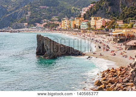 Monterosso Beach at Ligurian Sea, Italy