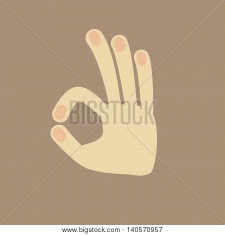 Vector Hand Gesture Ok