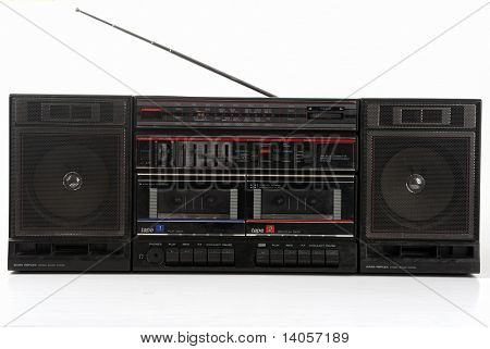 Old 1980 Stereo Boombox Hifi