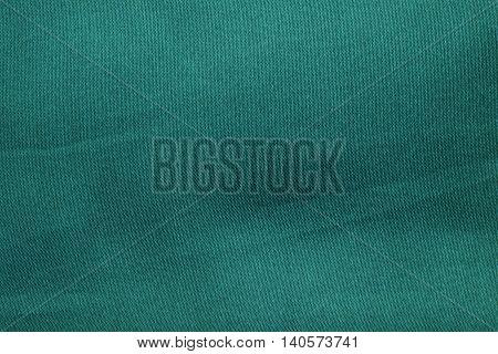 Green Dark Cloth Texture Background