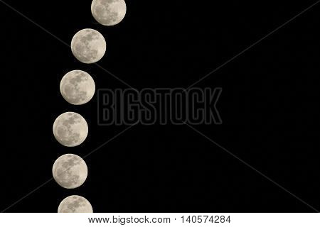 full moon edit in the night sky