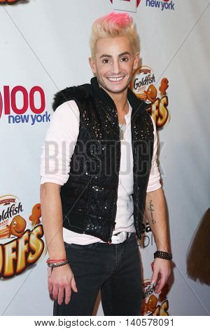 NEW YORK-DEC 12: Frankie Grande attends Z100's Jingle Ball 2014 at Madison Square Garden on December 12, 2014 in New York City.