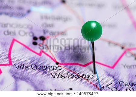 Villa Hidalgo pinned on a map of Mexico