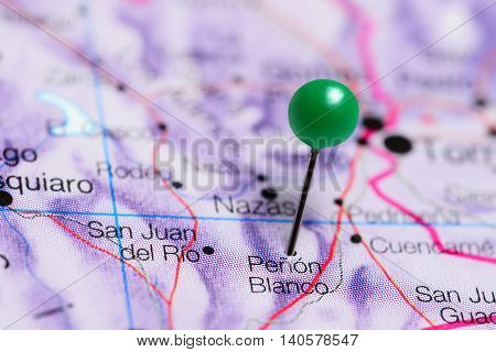 Penon Blanco pinned on a map of Mexico
