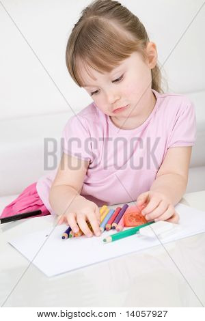 Young Girl Drawing