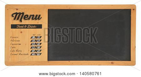 Retro Coffee Typography Sign On A Chalkboard