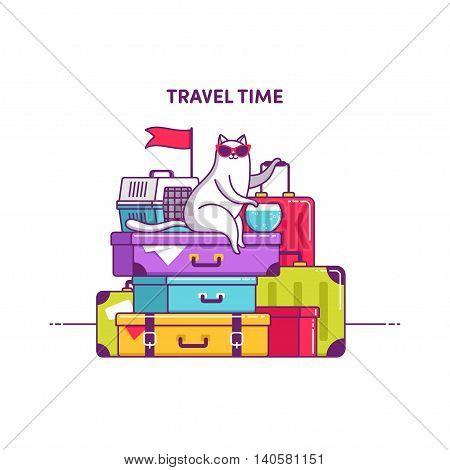 Illustration Lot Of Baggage