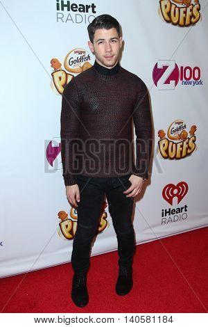 NEW YORK-DEC 12: Actor/Singer Nick Jonas attends Z100's Jingle Ball 2014 at Madison Square Garden on December 12, 2014 in New York City.