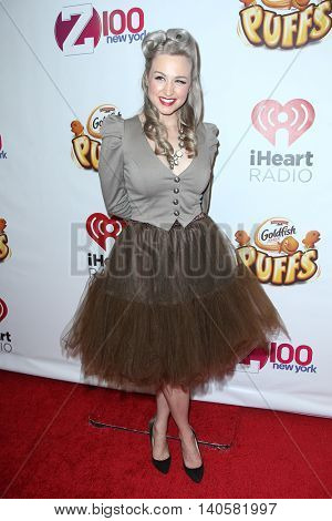 NEW YORK-DEC 12: Radio Personality Bethany Watson attends Z100's Jingle Ball 2014 at Madison Square Garden on December 12, 2014 in New York City.
