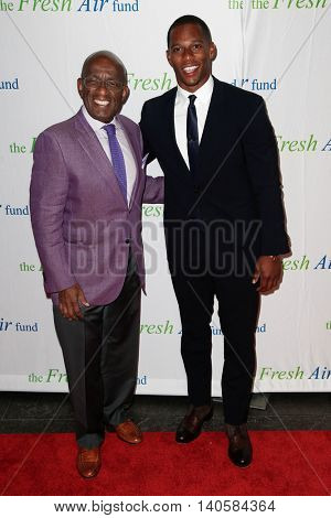 NEW YORK-MAY 29: Victor Cruz (R) and Al Roker attend the Fresh Air Fund Spring Gala Salute at Pier Sixty at Chelsea Piers on May 29, 2014 in New York City.