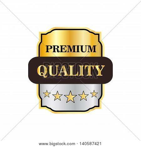 Premium quality label icon in flat style on a white background