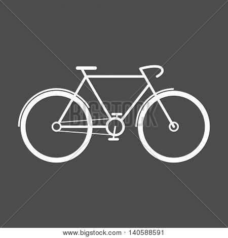 Detailed flat racing bicycle icon. Isolated vector illustration.