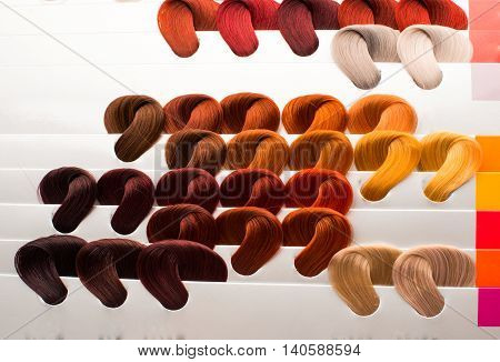 hair samples of different colors intensity  image