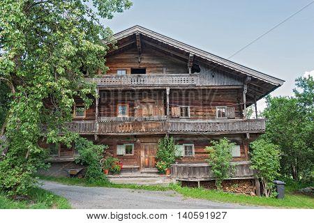 old farmhouse in the region wilder Kaiser, Tirol, Austria