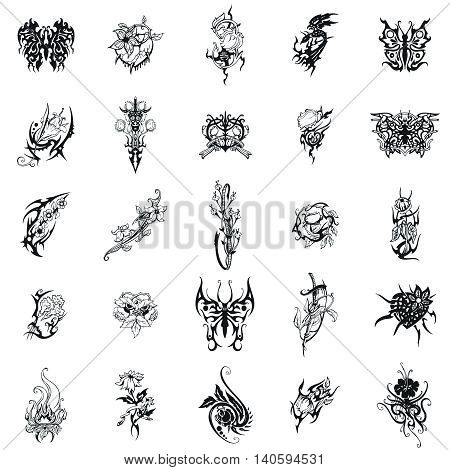 Flowers Vector Clipart includes 25 the most beautiful images of flowers. Intricate curves of the petals and leaves, an amazing diversity of forms, elegant and dainty lines.