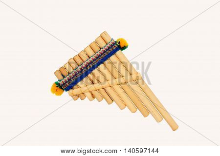 Pan flute on a white background small