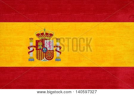 Illustration of the national flag of Spain with a gunge look