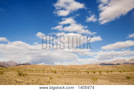 Death Valley With Clouds