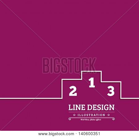 Pedestal thin line icon Vector illustration in flat style
