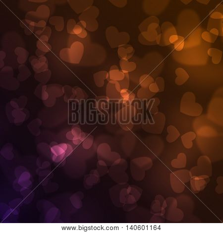 Abstract heart background. Magic light illustration with sweet heart design.