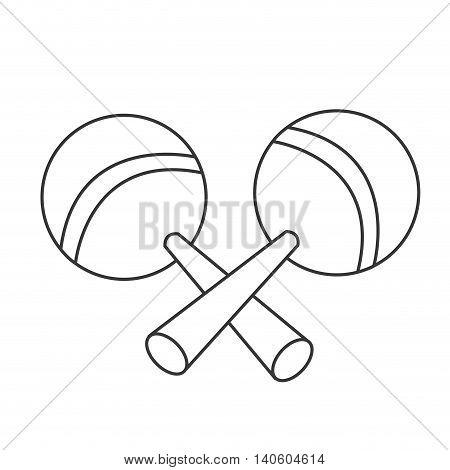 flat design pair of maracas icon vector illustration