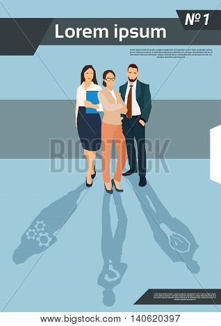 Business People Group Team Human Resources Flat Vector Illustration