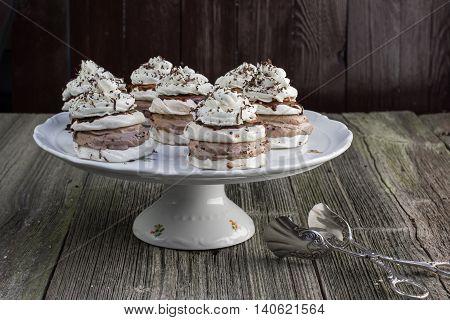 Several Czech sweet dessert