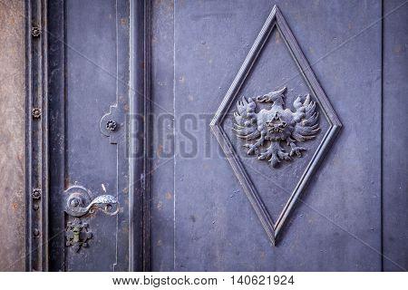 Massive Old Iron Door