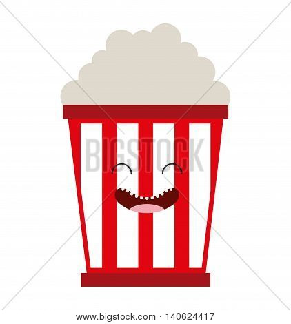pop corn character cute icon vector isolated graphic