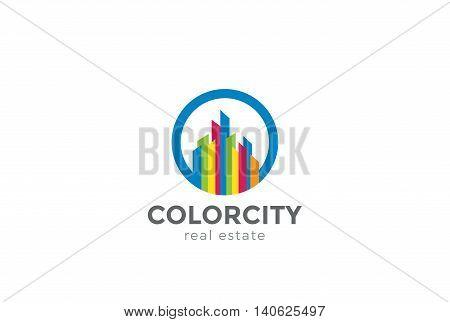 Real Estate Logo abstract design vector Commercial property icon