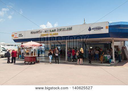 Passengers In Terminal Of Budo Kabatas Seaport