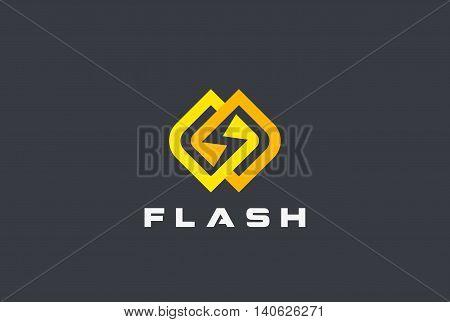 Flash Logo design vector. Energy Power Speed Logotype icon
