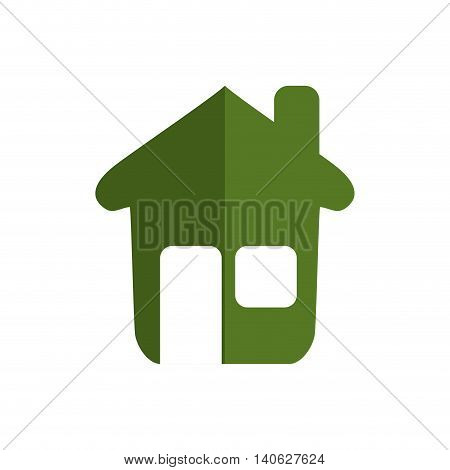 House concept represented by green home icon. Isolated and flat illustration