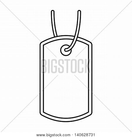 Army badge icon in outline style isolated on white background. Military symbol