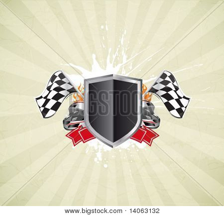 racing sign on the grunge background