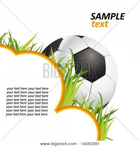 football poster with the grass and the ball