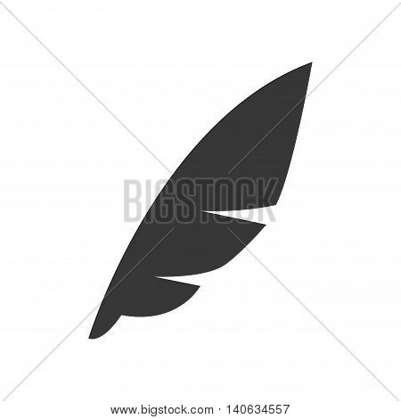 Instrument to write concept represented by feather pen icon. Isolated and flat illustration