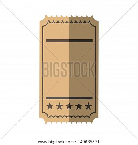 Label concept represented by ticket icon. Isolated and flat illustration