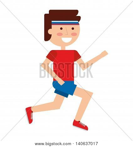 person running athlete icon vector isolated graphic
