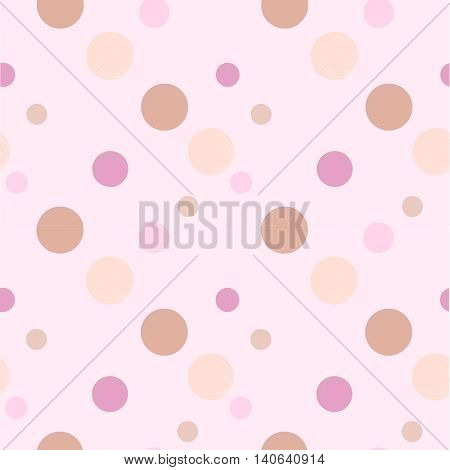 Vector image with beads, seamless pattern, beads in color.